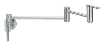 Danze D205058SS - Parma Single Handle Pot Filler Wall Mount Lever Handle - Stainless Steel