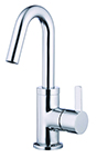 Danze D222530 Amalfi 1H Lavatory Faucet Single Hole Mount w/ 50/50 Touch Down Drain & Optional Deck Plate Included 1.2gpm Chrome