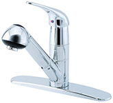 Danze D450012 Melrose 1H Pull-Out Kitchen Faucet with Deck Plate 1.75gpm Chrome