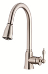 Danze D454510SS - Prince Single Handle Kit, , with pull down spout, with optional deck plate  - Stainless Steel