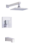 Danze D500062T - Mid-Town Single Handle TRIM Tub & Shower , Lever Handle - Polished Chrome